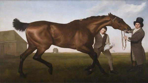 Stubbs, George, 1724-1806; 'Hambletonian', Rubbing Down