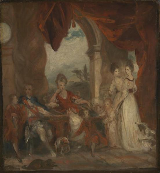 Sketch for 'The 4th Duke of Marlborough and his Family' c.1777 by Sir Joshua Reynolds 1723-1792