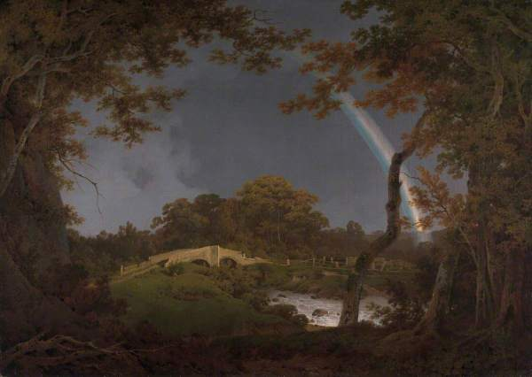 Wright of Derby, Joseph, 1734-1797; Landscape with a Rainbow