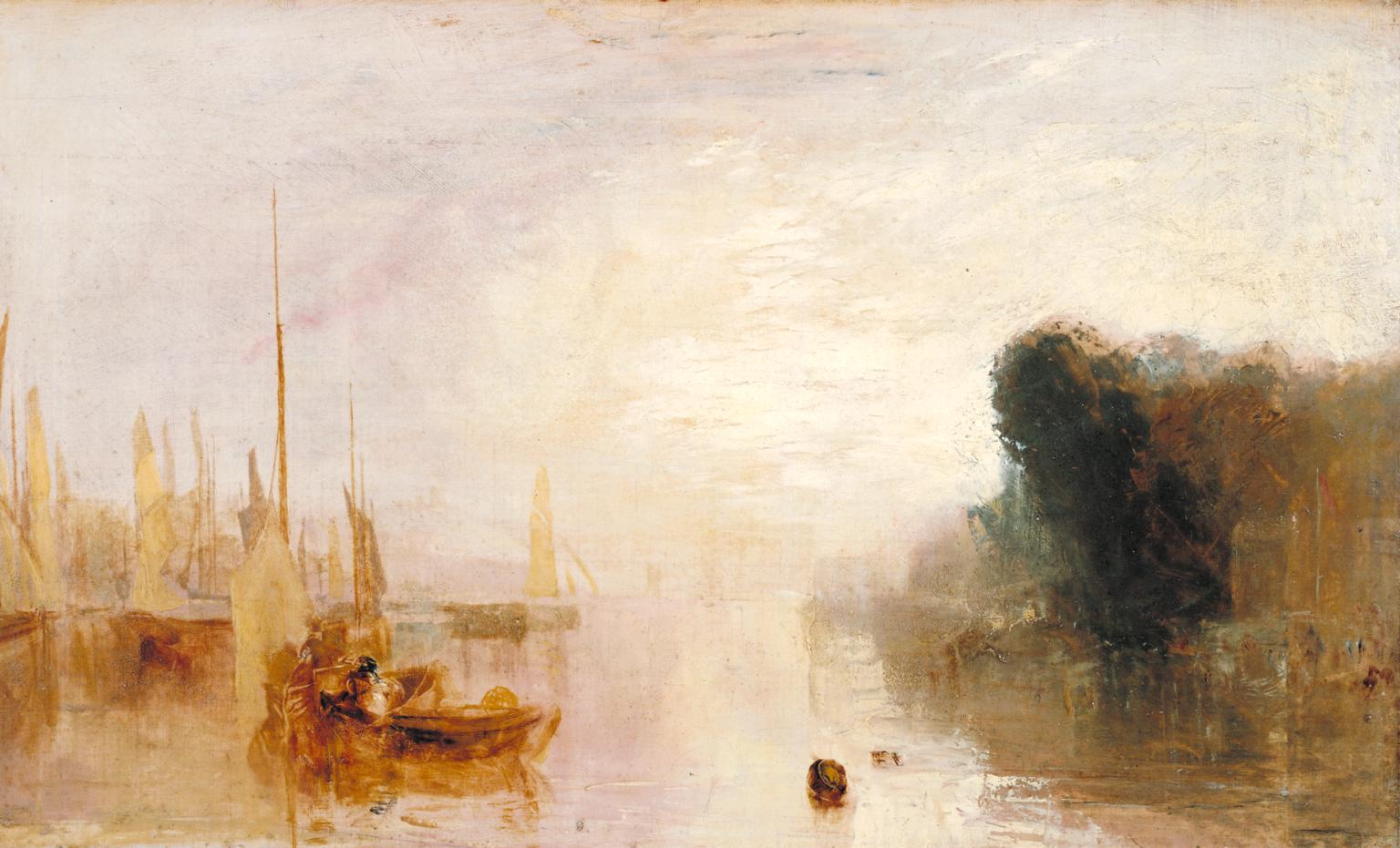 Sketch for 'East Cowes Castle, the Regatta Starting for Their Moorings' No. 2 1827 by Joseph Mallord William Turner 1775-1851
