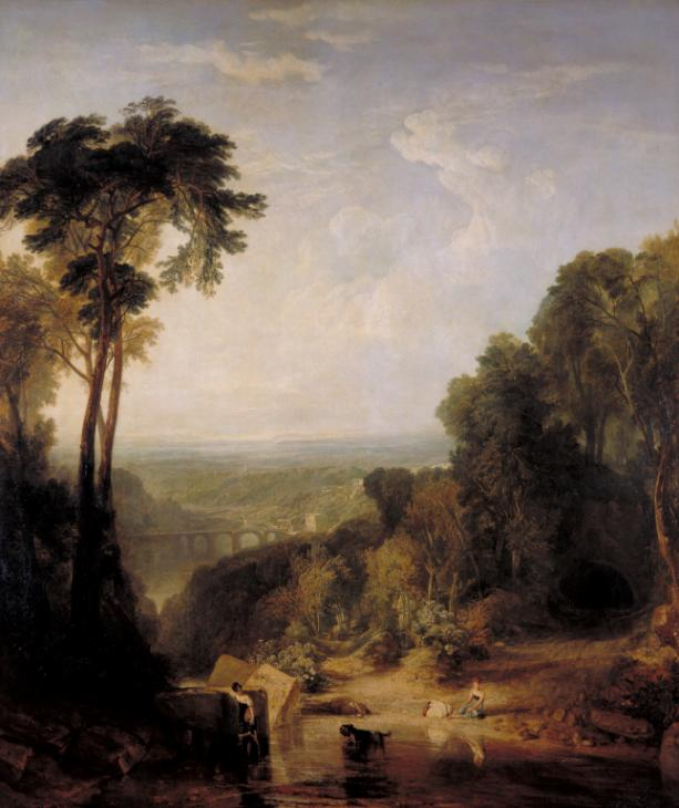 Crossing the Brook exhibited 1815 by Joseph Mallord William Turner 1775-1851